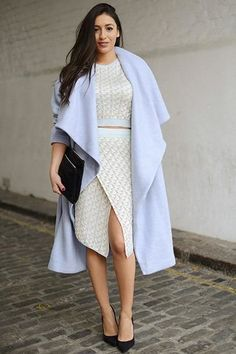 Oversized coat with waterfall drape