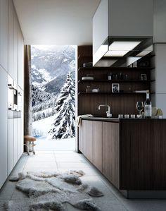 CGI_Alpine Kitchen by Poliform on Behance