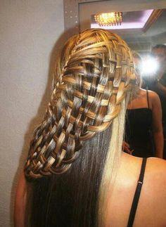 Hair basket weave