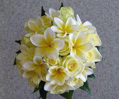 bridal bouquet plumeria wedding flowers - Page 11 of 101 - Wedding Flowers & Bouquet Ideas Rose Boquet, Yellow Rose Bouquet, Yellow Bouquets, Yellow Wedding Flowers, Flower Bouquet Wedding, Yellow Flowers, Floral Wedding, Light Yellow Weddings, Flower Bouquets