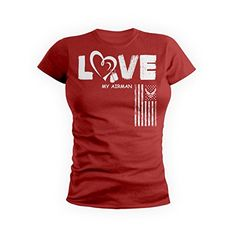 GetShirtz Airman Love Red Friday Air Force Military TShirt XLarge Red >>> Check out the image by visiting the link. (This is an affiliate link) Red Friday, Latest Fashion For Women, Air Force, Military, Link, Awesome, Check, T Shirt, Image