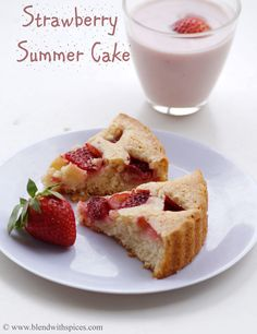 Eggless Strawberry Summer Cake Recipe with Step by Step Photos. An easy Eggless cake recipe with few ingredients. Can be served as a dessert / tea cake