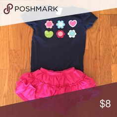 Gymboree top with a skirt Gymboree top size 6 and falls creek skirt size 5 both would fit 5/6 Gymboree Tops Tees - Short Sleeve
