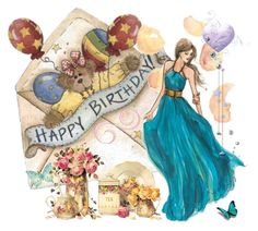 """Happy Birthday!"" by molly2222 ❤ liked on Polyvore featuring art"