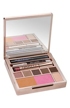 Obsessed with this Naked all-in-one palette that includes lip gloss, eye pencil and mascara!