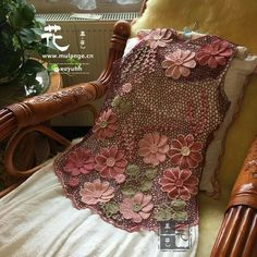 ИРЛАНДСКОЕ КРУЖЕВО Irish Crochet Patterns, Crochet Vest Pattern, Crochet Cardigan, Crochet Designs, Freeform Crochet, Crochet Lace, Japanese Crochet, Lace Outfit, Irish Lace