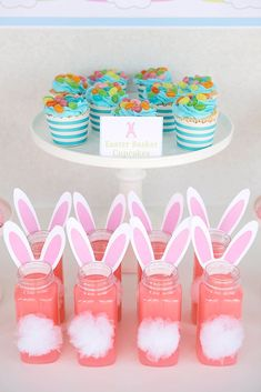 Want Easter party ideas that are no fuss? Kara's Party Ideas presents this Easter Party for Kids with FREE Printables! Easter Party Games, Bunny Party, Easter Drink, Easter Food, Easter Ideas, Easter Bunny, Bunny Birthday, Party Activities, Easter Baskets