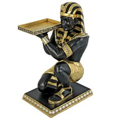 Found it at Wayfair - Egyptian Pharaoh's Kneeling Nubian Servant End Table