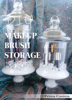 DIY: Dust Free Makeup Brush Storage and Organization
