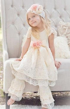 Princess Bride Lace Dress & Legging Set<br>12 Months to 6 Years<br>Only at Cassie's Closet<BR>Now in Stock