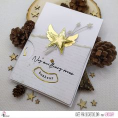 """Secretdelina : #Tampons et #matrices de coupe #dies #4enSCRAP """"Meilleurs #voeux 3"""" #hiver #scrapbooking #DIY #loisirscréatifs #carte #carterie Tampons Transparents, Gift Wrapping, Scrapbooking Diy, Gifts, Greeting Cards, Pixies, Happy New Year, Winter, Cutaway"""