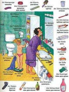 Wortschatz - das Badezimmer: