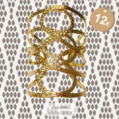 Bracelet golden plated with hammered details #jewellery #kosmimata #fashion2014 #ozzi_jewellery #glamour