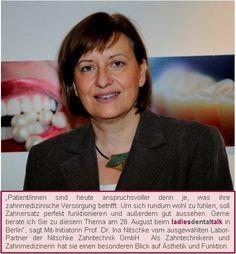 Mit-Initiatorin des 4. ladies dental talk in Berlin am 28. August