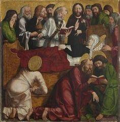 Laurentius-Altar. Dirmitio Virginis. 1462-1463. Alte Pinakothek München