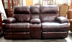 Leather Reclining Sofa (21804-1) - Consignment Northwest