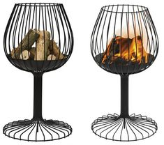 an interesting elevated fire pit inspired by a brandy snifter...although i think it looks more like a wine glass myself!