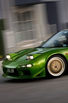 ♂ Green Car Acura NSX
