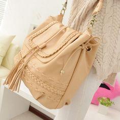 $5 2013 outono fresca pequena grande pendo saco de ombro sacos de malha breve cruz- corpo balde bolsa das mulheres US $14.78 $5 Deal