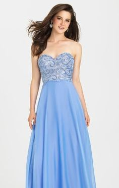 Strapless Chiffon Gown by Madison James Special Occasion 16-303
