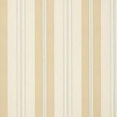 Schumacher Chalon Stripe Vanilla Wallpaper