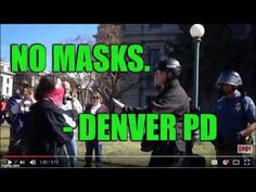"""✅ Denver PD says 'NO TO MASKS"""" at Capitol Pro-Trump Rally on March 4, ar..."""