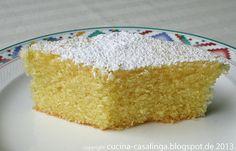 Grießkuchen mit Zitronensirup
