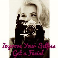 Improve your selfies! Get a facial! #esthetician #marilynmonroe #oldhollywood #vintage #retro #facial #marilyn #selfie #improveyourselfies #skincare