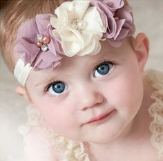 Newborn Chiffon Flower Headband-16 Colors