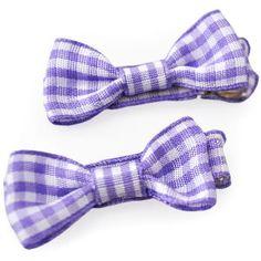 Mini Bows Gingham - Purple