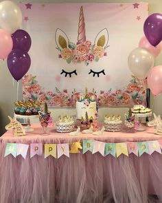 16 ideas baby shower distintivos fieltro for 2019 – Birthday 2020 Unicorn Themed Birthday Party, 1st Birthday Girls, Birthday Party Decorations, 1st Birthday Parties, Baby Shower Decorations, Themed Parties, Unicorn Party Decor, Unicorn Party Supplies, Birthday Banners