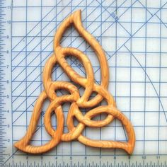 Celtic Flame Knot-Cleansing and Renewal-Wood by signsofspirit