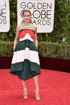 Just When You Think You've Seen the Best Dressed Stars at the Globes, Olivia Palermo Walks In