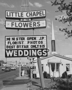 Las Vegas Wedding chapel, maybe for the engagement pictures?