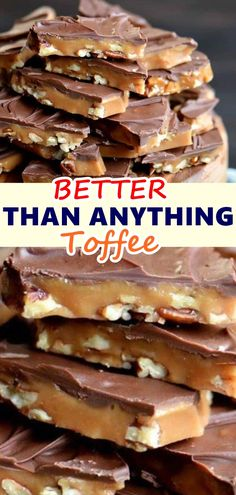 Better Than Anything Toffee English Toffee Candy Recipe, Pecan Toffee Recipe, Toffee Nut, Homemade Toffee, Homemade Candies, Chocolate Almond Toffee Recipe, Chocolate Chips, Chocolate Toffee Bars, Pecan Recipes