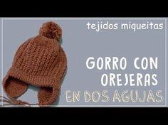 How to knit a woollen hat with earmuffs Crochet Woman, Love Crochet, Beautiful Crochet, Crochet Baby, Knit Crochet, Baby Hats Knitting, Knitting For Kids, Knitting Socks, Knitted Hats