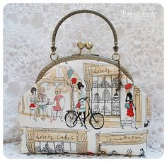 Barbi varr, avagy most másra használom a tűt. Fabric Wallet, Fabric Bags, Quilted Gifts, Quilted Bag, Embroidery Purse, Frame Purse, Craft Bags, Patchwork Bags, Purse Patterns