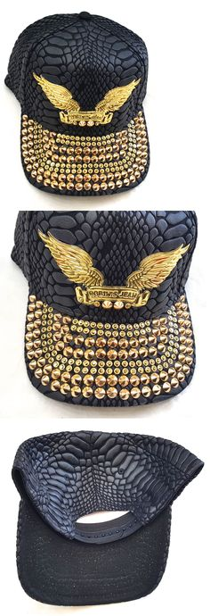 dc4040a23bc Hats 52365  Robin S Jean Embellished Hat Cap Osfa 100% Authentic Black Gold  -  BUY IT NOW ONLY   149.99 on eBay!