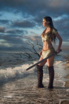 3 piece discounted set-The Valkyrie Rider-Scale Mail Halter + Convertible Loincloth Skirt + Spaulders/Epaulettes Set Warrior Girl, Fantasy Warrior, Warrior Princess, Warrior Women, Fantasy Women, Fantasy Girl, Scale Mail, Celtic, Red Sonja