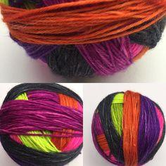 8 stripe Radioactive #handdyedyarn #dyealltheyarn #knitstagram #knittersofinstagram #motherofpurl #wahm #selfstripingyarn
