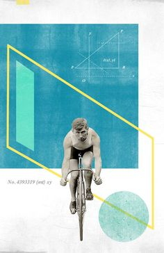 awesome Bicycle No4 Collage Poster 11x17 von reconstructingideas auf Etsy, $20.00...