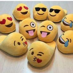 *9 Styles* 👡 Slip-On Adult Emoji Slippers