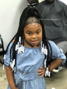 21 Attractive Little Girl Hairstyles With Beads – Hairstylecamp 21 Attractive Little Girl Hairstyles with Beads – HairstyleCamp black kids haircut styles – Black Haircut Styles Lil Black Girl Hairstyles, Cute Hairstyles For Kids, Baby Girl Hairstyles, Kids Braided Hairstyles, Natural Hairstyles, Hairstyle Ideas, Girl Haircuts, Little Black Girls Braids, Little Girl Braid Styles