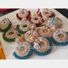 Beautiful Roop tikka and earrings set perfect for mehendi bride/bridesmaid. Get them in any colour.   Enquires: 00447448472033/09447585522293(watsapp/viber) Email: kainoork@gmail.com