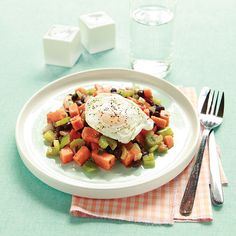Green Chile Hash with Eggs - Clean Eating.  August is Hatch Chile month at HEB!