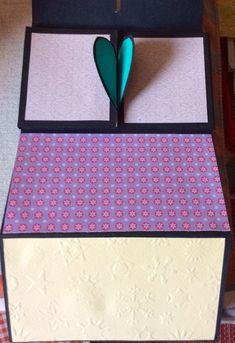 Heart lock accordion card, inside