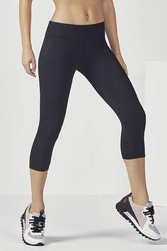 fc1c01980faca Salar Solid PowerHold Capri Workout Capris, Leggings, Yoga, Health Fitness,  Pants,
