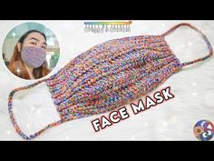 In today's video, I'll be showing you how to crochet a face mask. Mask become our primary need especially when going out. I am thankful that we are not in mask pattern Crochet Mask, Easy Crochet, Free Crochet, Tutorial Crochet, Blanket Crochet, Crochet Braids, Easy Face Masks, Diy Face Mask, Pocket Pattern