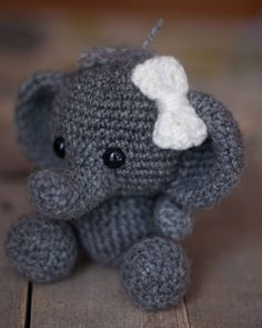 I think elephants have some of the most unique characteristics of all animals! This makes them fun to crochet because they're so easy to identify! One time when I showed some kids a squirrel I made one thought it was a cat and one said a bear...  Never have that problem with an elephant!!  Sharing this little elephant for #moveitupmonday with @smalltowngirllife.  #elephant #crochet #crochetanimal #handmade #crochetelephant #amigurumi #weamigurumi #crochetersofinstagram #instacrochet…