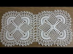 Crochet Square Lace Pattern Making Part 2 & Knitting Patterns Crochet Cushion Cover, Crochet Cushions, Crochet Tablecloth, Crochet Doilies, Crochet Cross, Crochet Home, Crochet Motif Patterns, Knitting Patterns, Crochet Jumper
